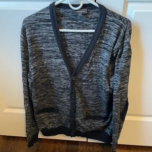 Men's Express Grey Cardigan Size XL